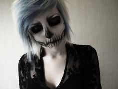Skull makeup. Creepy but cool