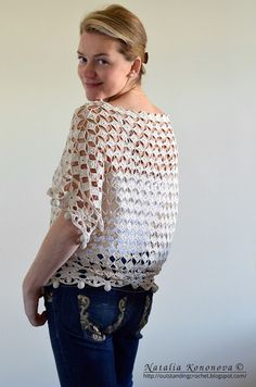 Outstanding Crochet: Loose Top with Pom-Poms