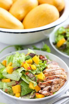 Grilled Chicken Mango Salad | GI 365