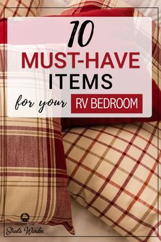 These RV storage solutions can help you make the most of your RV bedroom. RV organization and RV storage ideas to make the most of your RV space. Rv Camping Tips, Travel Trailer Camping, Rv Travel, Camping Ideas, Travel Trailers, Camping List, Outdoor Camping, Camping Essentials, Camping Stuff