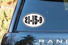 Crossfit Vinyl Decal. Bumper Sticker. 21.15.9. Fran Wall Art. Bumper Sticker
