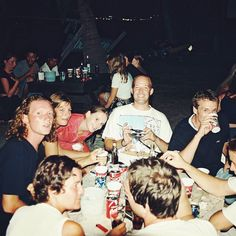 The party crew at Tommy's on Haad Riin back when the most expensive beach bungalow was 120 baht.  #fullmoonparty #kohphangan #Thailand #islandlife #film #craigfergusonimages