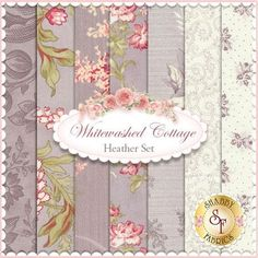 3 Sisters for Moda: Whitewashed Cottage in Heather | Shabby Chic quilting fabric