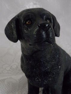Details: Adorable Black labrador retriever dog statue with the sweetest eyes. Guessing it's made from resin due to the few white flecks seen in last photo (otherwise I may have thought it is made from coal) Condition: Very good condition as can be seen in photos. | eBay!