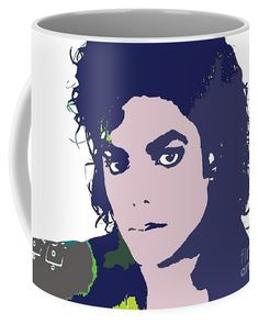 Michael Jackson Coffee Mug for Sale by Vesna Antic Michael Jackson, Coffee Love, Coffee Mugs, Mugs For Sale, Protective Packaging, Basic Colors, Color Show, Colorful Backgrounds, Original Art