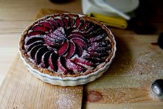 A Plum Tart With Fancy Frangipane Filling & Coconut-Cashew Crust « Vegan, Gluten-Free — edible insight