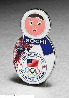 2014 SOCHI Olympic TEAM USA Pin, Nesting Doll #USA