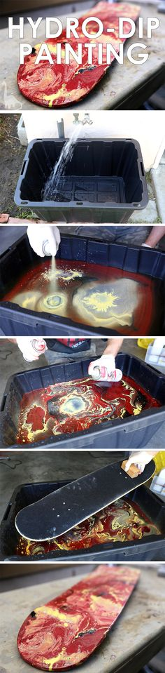 Dip Painting Put psychedelic effects on any surface!Put psychedelic effects on any surface! Do It Yourself Design, Do It Yourself Home, Fun Crafts, Diy And Crafts, Arts And Crafts, Art Projects, Projects To Try, Crafty Projects, Psychedelic Effects