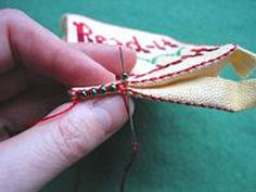 Beaded joining our edging stitch