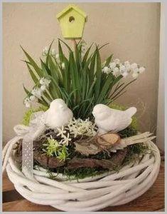 ♥ ~ ♥ Spring into Easter ♥ ~ ♥ Easter Flower Arrangements, Easter Flowers, Floral Arrangements, Deco Floral, Easter Table, Easter Wreaths, Summer Wreath, Spring Crafts, Easter Crafts
