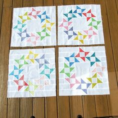 Four blocks done and four more to go!  Using @croskelley pattern Round and Round. | Use Instagram online! Websta is the Best Instagram Web Viewer!