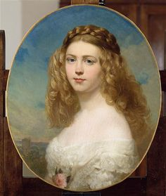 """Portrait of Princess Amelia of Bavaria by artist Franz Xaver Winterhalter Franz Xaver Winterhalter, Otto Von Bismarck, Caspar David Friedrich, Miniature Portraits, Painted Ladies, Classical Art, Woman Painting, Painting Abstract, Acrylic Paintings"