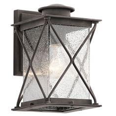 Kichler Lighting Argyle Collection 1-light Weathered Zinc (Grey) Outdoor Wall Lantern (Aluminum)