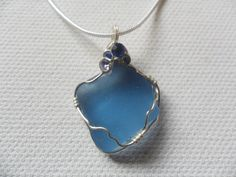 Cornflower blue sea glass with tiny sparkle by ShePaintsSeaglass