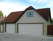 Custom Reverse Gable Garage with Clip Gable Custom Garages, Dream Garage, Shed, Outdoor Structures, Building, Blue, Backyard Sheds, Buildings, Coops