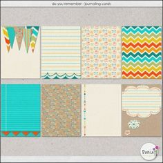 Free Do You Remember Journal Cards from Dunia Designs - good for kite festival Project Life pages