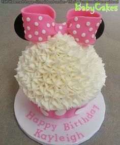 "Minnie Mouse 10"" tall cupcake cake"