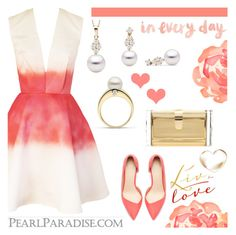 """""""Valentine's Day with Pearl Paradise"""" by emilypondng ❤ liked on Polyvore featuring мода, Joana Almagro, Zara, Edie Parker, women's clothing, women's fashion, women, female, woman и misses"""