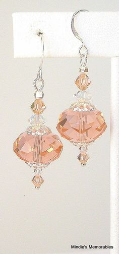 Peachy pink earrings. Creative inspiration for earrings but in another color. I don't look good in peach. These would look fabulous in a teal, turquoise blue or magenta. Hmm...