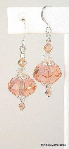 Peachy pink earrings