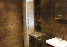 Carrelage effet tôle rouillée   Plan house - Salle de bains ...