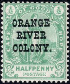 Stamp: Stamps of Cape of Good Hope Overprinted (South Africa - States and Colonies) (Orange River Colony) Mi:ZA-OR 133 South Africa States, Union Of South Africa, South Afrika, British Colonial, Empire, Postage Stamps, River, Roman, Wall Art