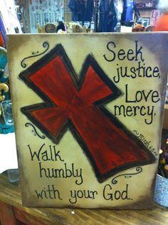 Canvas Cross Painting -