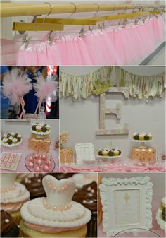 Perfect pink ballet party. Great ideas for a princess party as well. So many cute ideas! www.momswithoutanswers.com