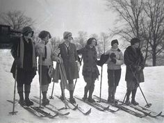 These ladies knew what's up!  #vintage #ski