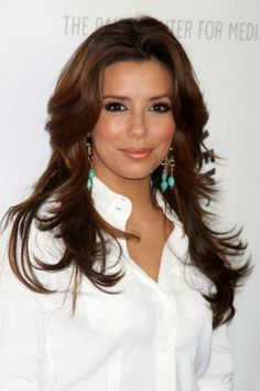 Eva Longoria Parkers long layered hairstyle !