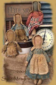 EZPZ Primitive Prairie Dolls and Stump Doll E-PATTERN PDF