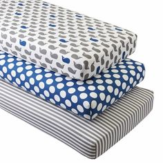 Shop Organic Splash Whale Crib Fitted Sheets, Set of 3. Looking for a modern bedding set with a lot of charm? Then dive right in, because our Splash Bedding features schools of printed whales, blue and white stripes and blue and white polka dots.