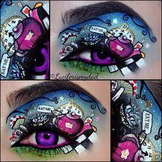 This is serious art! Alice in Wonderland eyes. By luciferismydad