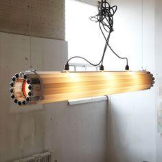 Recycled Tube Light Pendant Lighting