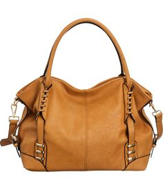 "Purse Boutique: Tan Laurel&Sunset ""Ilana"" Large Crossbody Convt. Hobo Bag, Purses"