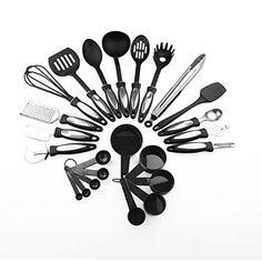 Kabalo 24 Piece Stainless Steel Cooking Utensil Set Nylon Handles Kitchen Gadget Tools--14.23
