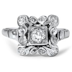 18K White Gold The Lilian Ring from Brilliant Earth