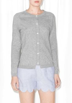 & OTHER STORIES Crafted from luxuriously soft cotton, this detailed and lightweight cardigan is ideal for layering.