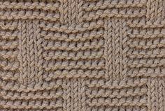 Узор: прямоугольники на фоне платочной вязки
