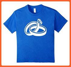 Kids Wedding rings with diamond T-Shirt 6 Royal Blue - Wedding shirts (*Partner-Link)