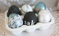 Learn how to blow an egg and simple ways to decorate them