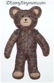Quiet Book Teddy aus Filz