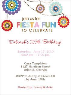 #Fiesta Fun invitation