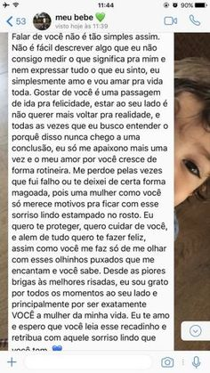 Rosa Menezes's media content and analytics Love Text, Cute Texts, Love Phrases, Little Bit, Love You, My Love, Love Messages, Couple Goals, Relationship Goals