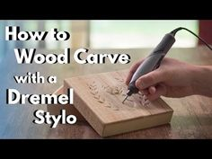 How to wood carve with the Dremel Stylo. Learn how to wood carve/power carve with the Dremel Stylo. Dremel Tool Projects, Easy Woodworking Projects, Woodworking Shop, Woodworking Bench, Dremel Ideas, Wood Projects, Woodworking Essentials, Woodworking Magazines, Grizzly Woodworking