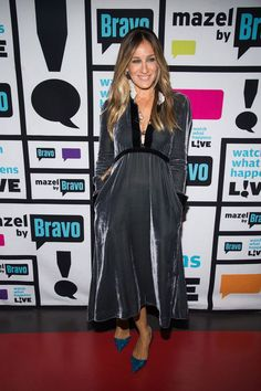 She wore a dress by Philosophy di Lorenzo Serafini for an appearance on [i]Watch What Happens Live[/i].