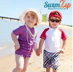 #Family Vaca Calls For Solid UV Protection! @SwimZip Swimwear UV #Protective #Swimwear is perfect for the littles!   Check out #CBT interview with creator #BetsyJohnson ! #swim #bathingsuits #kids
