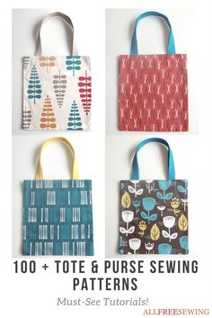 earn how to make a handbag or purse using any of these free bag patterns. You'll love sewing your own bags and purses from DIY tote bags to free purse patterns and everything in between.