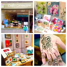 Belper Arts Trail 2014 at Crafts Cornicopia - Katie Jobling and I, acrylic, oil, watercolour paintings, prints, cards and henna.