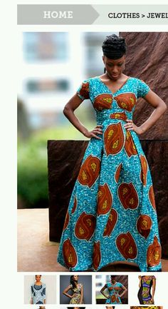 Gorgeous African dress!